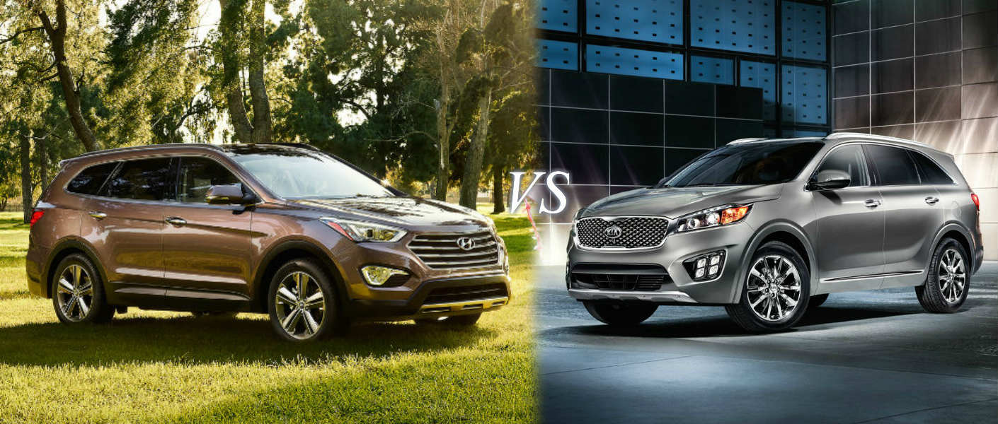 kia sorento vs hyundai santa fe. Black Bedroom Furniture Sets. Home Design Ideas