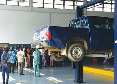 RT Briscoe Partners UNILAG on Auto Workshop
