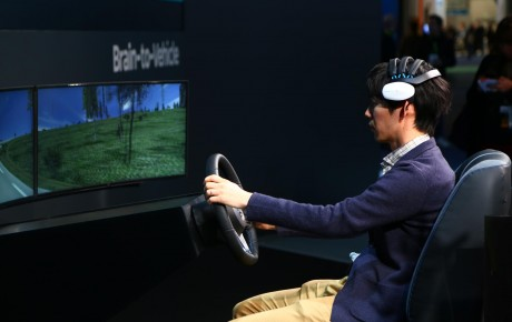 Nissan introduced the brain-control vehicle theory at CES this year